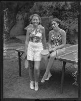 Shirley Garland and Virginia Stich, members of the Los Feliz Women's Club Juniors, Los Angeles, 1935