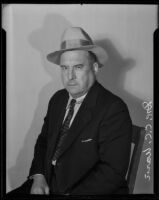 Portrait of Dr. C. C. Warn, veterinarian and General Manager of the Los Angeles Humane Society (1933-1939), Los Angeles, 1935