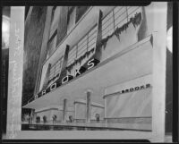 Rendering depicting Brooks Clothing Company exterior, 1935