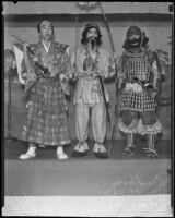 George Morey, Sam Minami and Saburo Tani performing at the 2nd annual Nisei Festival, 1935