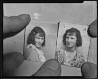 Two photographs of Ruth Attaway who died after an illegal abortion, rephotographed, 1935