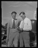 Jack Boykin and Police Captain Owen Murphy, Long Beach, 1935