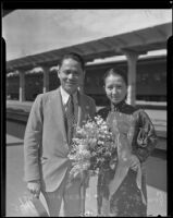 General Chang Wei-jung and his wife on their way to Cuba, Los Angeles, 1935