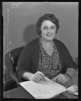 Mrs. Claire Nordstrom, parole officer, Whittier State School, 1935