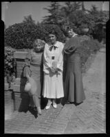 Mrs. Mark A. Glaser, Mrs. John V. Barrows, and Mrs. A Brockway from the Women's Auxiliary of the Southern California Medical Association, Los Angeles, 1935