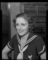 Portrait of actress Mary Lange, 1935