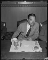 C. R. Smith, President of American Airlines, at a Chamber of Commerce luncheon held in his honor, Los Angeles, 1935