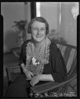 Portrait of June J. Owens who was put in charge of all women's activities under the Works Progress Administration, 1935
