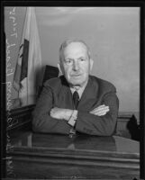 Major General Lansing H. Beach at the witness stand, Los Angeles, 1935