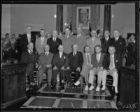 New City Council poses in City Hall, Los Angeles, 1935