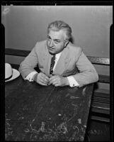 Vincent C. Riccardi arrested for grand theft, Los Angeles, 1935