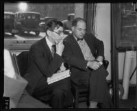 Former Deputy Sheriff Archie Carter and Defense Attorney Ed G. Haumesch, Los Angeles, 1935
