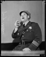 Officer George Stinson sings, Los Angeles, 1935