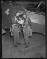 Capt. George C. Sherwood and Maj. Eldo A. Peterman of the National Guard, Southern California, 1935