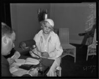 Mrs. Edith Miller questioned by Dep. Coroner J. P. Kane, Venice, 1935