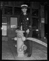 R. J. Scott Fire Chief on his 16th anniversary on the job, Los Angeles, 1935