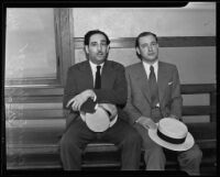 Bernal Jose Gomez and Manuel Urruty at the Wilshire Police Station, Los Angeles, 1935