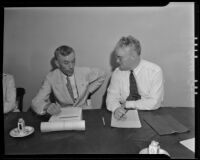 A. L. Scott and Earle Evans at the American bar Association conference, Los Angeles, 1935