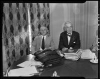 Scott M. Loftin and William Ransom at the American Bar Association convention, Los Angeles, 1935