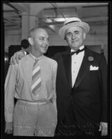 Rex Hardy and Joe Crider, Jr. at the American Bar Association pageant, Los Angeles, 1935