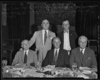Scott M. Loftin, Norman Bailie, J. W. de B. Farris, Joe Crider, and William B. Himrod at a Bar Association convention, Los Angeles, 1935