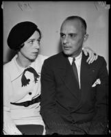 R.L. Hargreaves with wife, Helen Ferguson Hargreaves, before going to Federal Prison, Los Angeles, 1935
