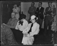 Kathryn Parks, accidental killer of Glen Drewyor, with mother, Los Angeles, 1935