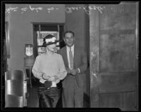 Charles Loeb charged with buying stolen property from Virgil R. Scott, Los Angeles, 1935