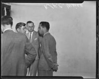 F. C. Weise, on trial for buying gold from burglar Virgil R. Scott, Los Angeles, 1935