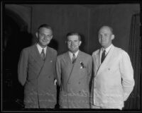 Joseph Stecher, Owen Cunningham, and Curtis C. Shears gather for the American Bar Association, Los Angeles, 1935