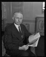 Scott M. Loftin, president of American Bar Association, Los Angeles, 1935