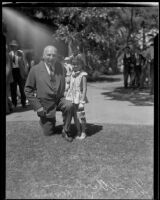 Governor Frank Merriam and actress Regina Burham attend the Iowa Picnic, Long Beach, 1935