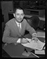 Louis G. Brittingham is honored, Los Angeles, 1935