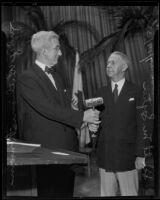 Judge William Ransom and Scott M. Loftin of the American Bar Association, Los Angeles, 1935
