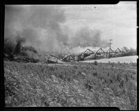 Olive Street bridge fire, Compton, 1920-1935