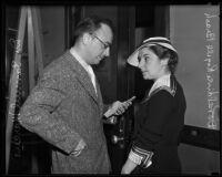 Dr. Samuel Marcus and Doraldine Rogell Brash during the Brash divorce, Los Angeles, 1935