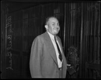 Arthur Cecil Brash during his divorce, Los Angeles, 1935