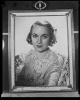 Framed portrait photograph of Mrs. William Nixon Wilson, Los Angeles, ca. 1935