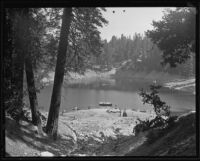 Vacationers at Crystal Lake, Angeles National Forest, 1935