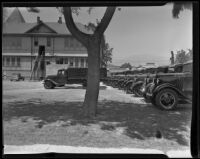Civilian Conservation Corps trucks in Santa Paula, 1935