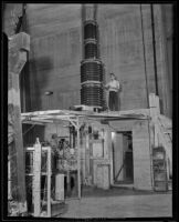 William Edwards Stephens working on an atom smasher at Caltech, Pasadena, 1935