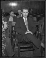 Walter H. Glenn in court for fraud, Los Angeles, 1935
