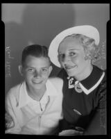 Mildred H. Beebe and her son Ray Herd seek $4520, Los Angeles, 1935