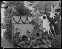 Section of Lorenzo D. Smith's garden, Los Angeles, 1935
