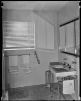 Bathroom of a $10,000 model house at the Los Angeles National Housing Exposition, Los Angeles, 1935
