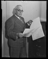 Ralph L. Dalton, newly appointed Los Angeles Works Project Administration executive, Los Angeles, 1935