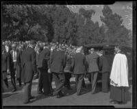 William Mulholland laid to rest at Forest Lawn, Glendale, 1935