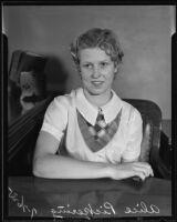 Alice Pickering testifies on behalf of her mother, Los Angeles, 1935