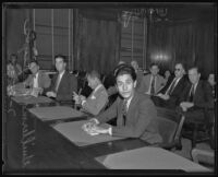 Guillermo A.S. Reyes is accused of check fraud, Los Angeles, 1935