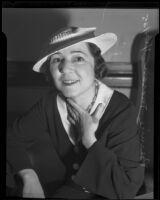 Bernice Moran divorces husband, Los Angeles, 1935